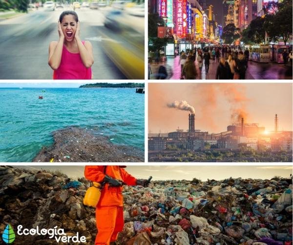 Cómo evitar la contaminación ambiental - Tipos de contaminación ambiental