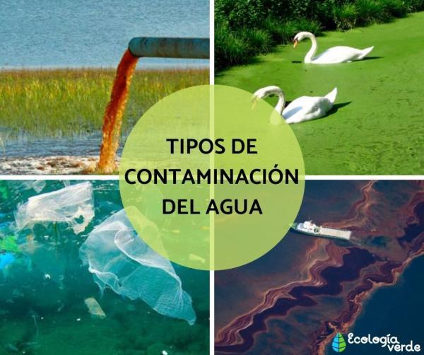 Tipos decontaminacióndelagua