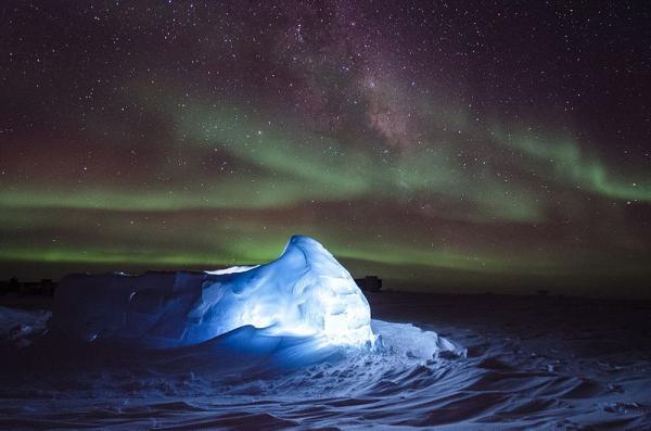 Dónde se ve la aurora boreal - Las auroras australes en el Polo Sur