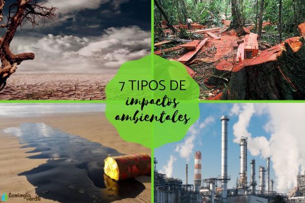 Tipos de impactos ambientales