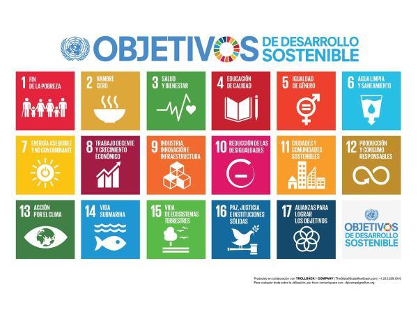 17 Objetivos de Desarrollo Sostenible de la ONU