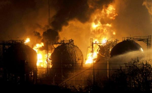 7 desastres naturales causados por el hombre - Explosiones de la fábrica petroquímica de Jilin
