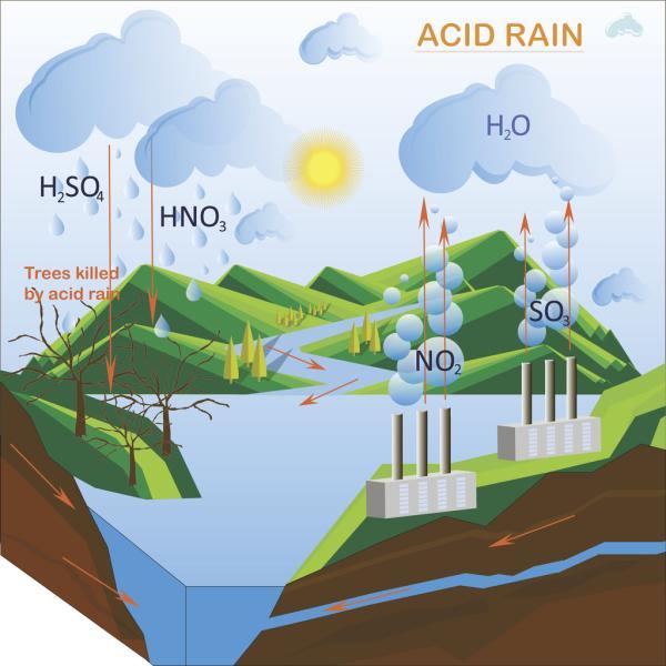Qué es la lluvia ácida – definición y causas