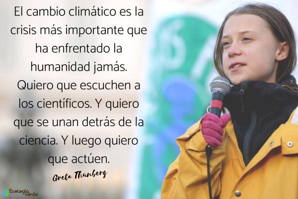 Frases del cambio climático - Frases de Greta Thunberg sobre el cambio climático