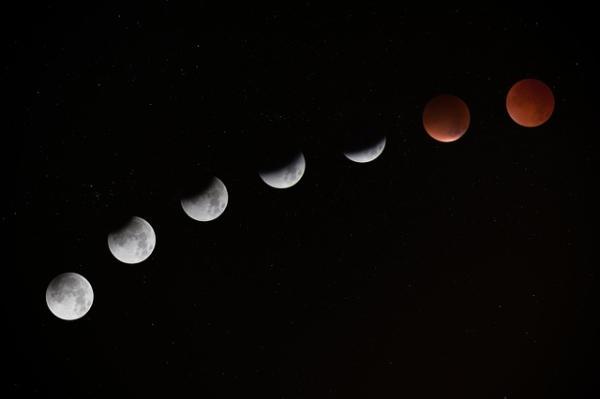 Cómo y cuándo se produce el eclipse de luna roja o de sangre