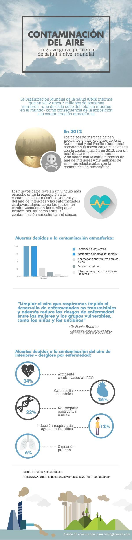 Problemas de salud por la contaminación del aire - Infografia de los problemas de salud por la contaminación del aire