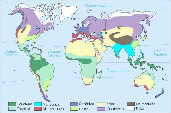 Tipos de clima en el mundo