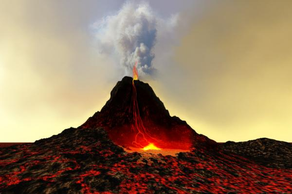 Argumentos frente a los negacionistas del cambio climático - El cambio climático se debe a la erupción de los volcanes e incendios