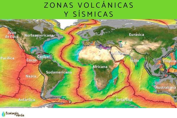 Regiones volcánicas y sísmicas del mundo