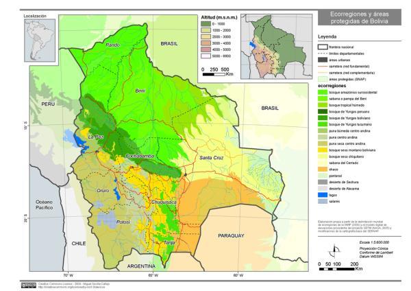 Las ecorregiones de Bolivia y sus características