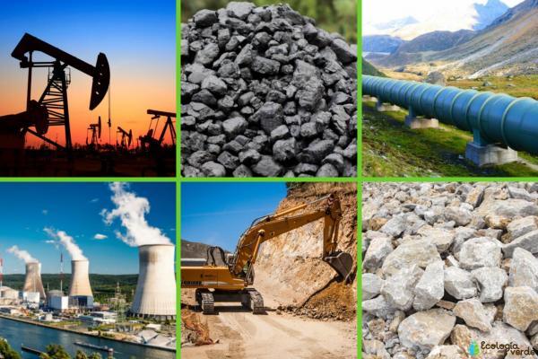 Recursos no renovables: qué son y ejemplos - Ejemplos de recursos no renovables