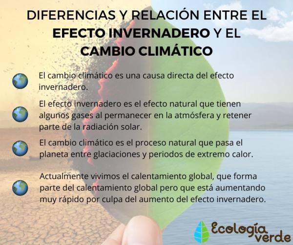 Diferencias Entre Efecto Invernadero Y Cambio Climático Y Su Relación