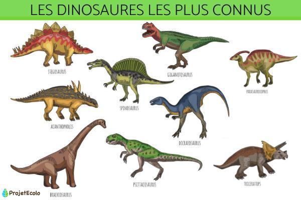 Les dinosaures les plus connus - Types et espèces