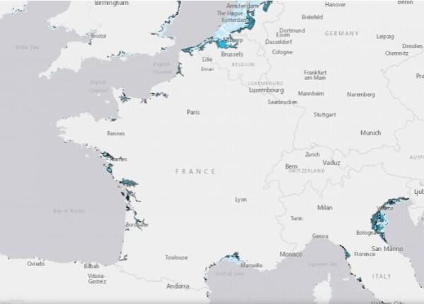 Élévation du niveau de la mer : causes et conséquences - Villes menacés par la montée des eaux en France
